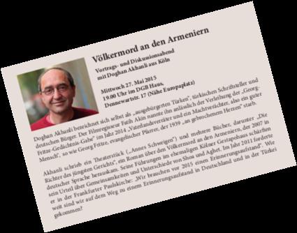 Akhanlı - Völkermord an den Armeniern - Vortrag Aachen 2015