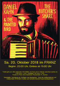 Poster Konzert Daniel Kahn & The Painted Bird